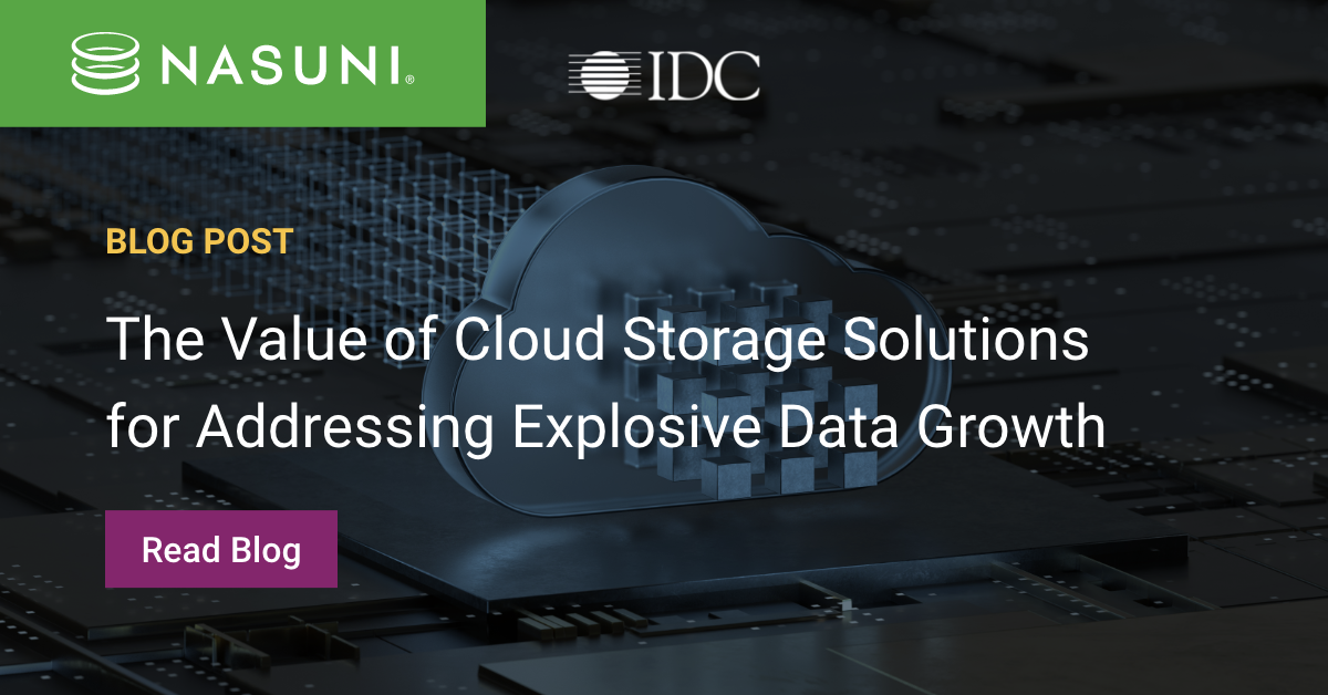 The Value of Cloud Storage Solutions for Addressing Explosive Data Growth